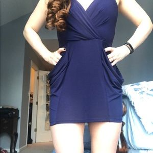 NWT BCBGeneration Blue Surplus Mini Dress